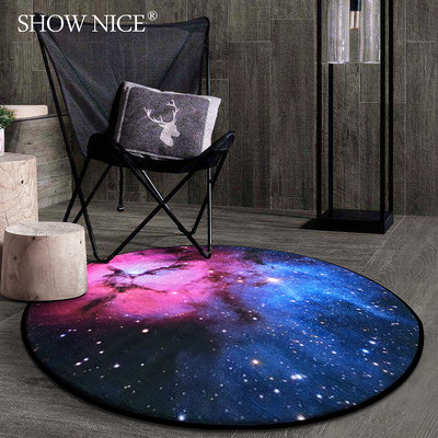 Nordic creative fashion round carpet bedroom coffee table cushion living room bedside room hanging basket garden blanket computer chair blanket