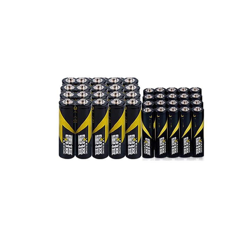雷摄 碳性干电池5号20粒+7号电池20节七号五号混合40节池普通电池_领取5元天猫超市优惠券
