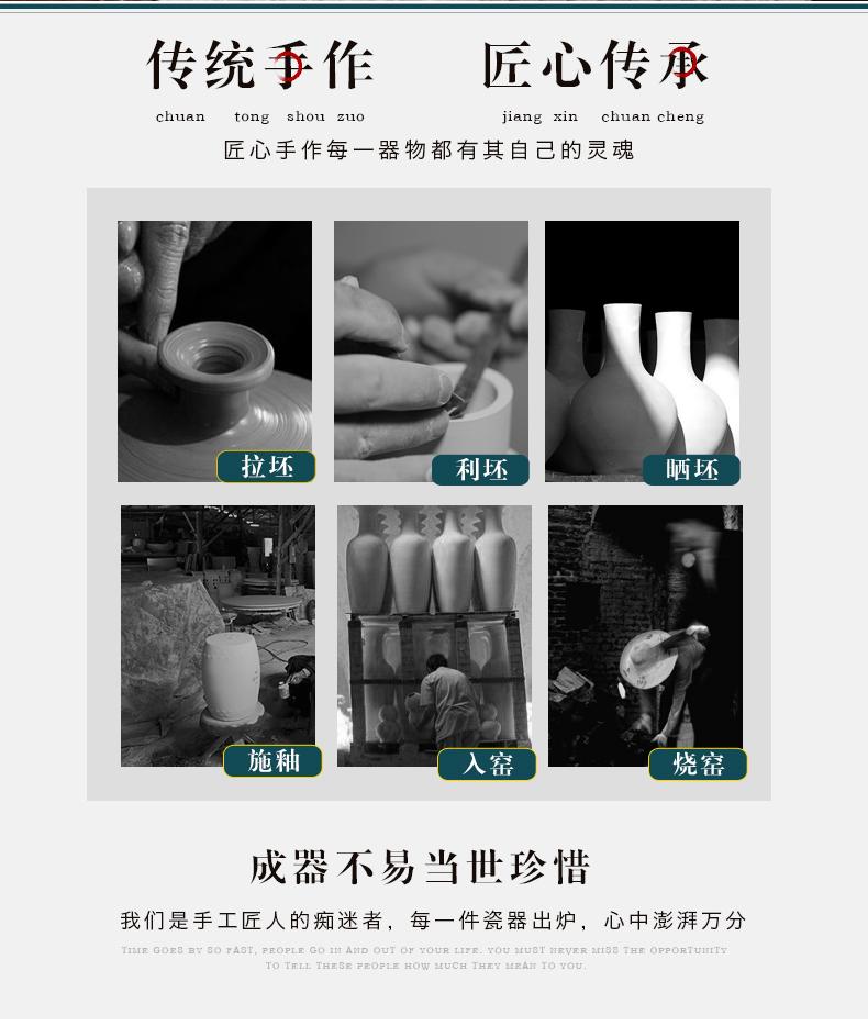 Jingdezhen ceramic powder enamel vase furnishing articles living room flower arranging Chinese style household wine rich ancient frame decorative porcelain
