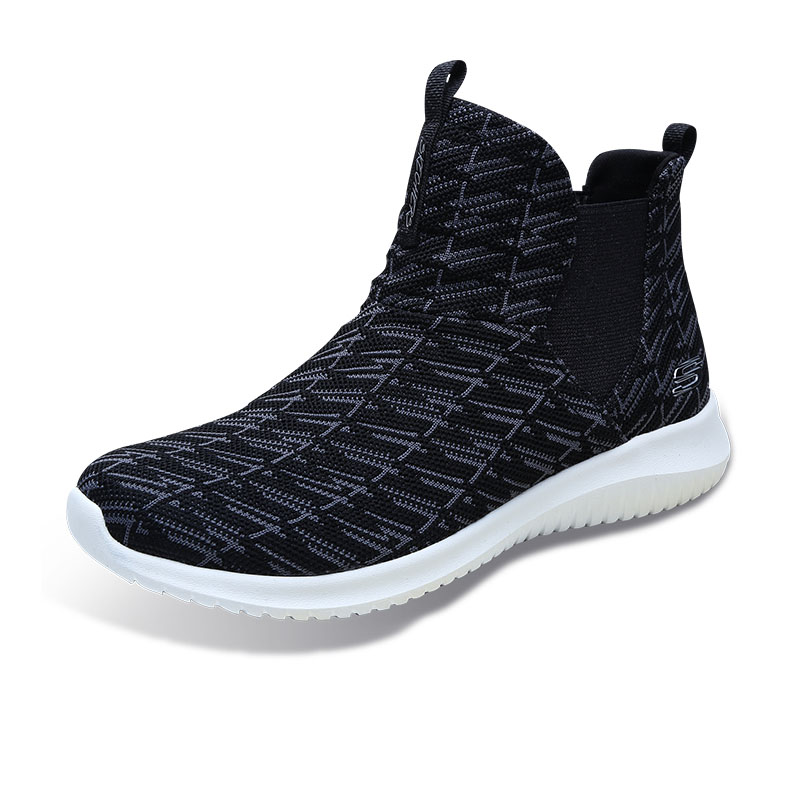 Skechers Skechers women's shoes one legged high top casual boots comfortable women's boots casual shoes 12835