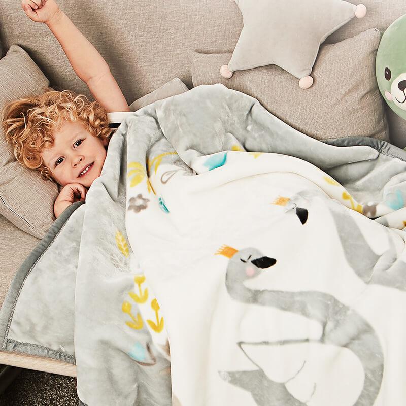 好心情婴儿毛毯双层加厚