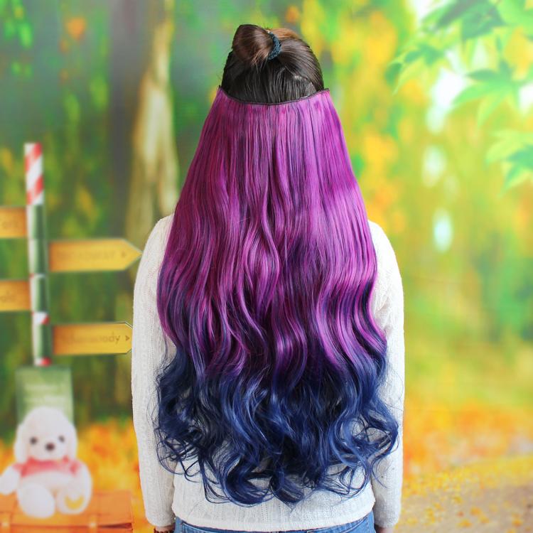 Usd 1221 Color Wig Piece Hair Piece Harajuku Gradient Color Curly
