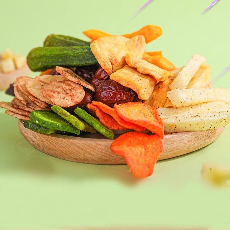 果蔬脆片综合☆果蔬干水果蔬菜干混合装什锦秋葵香菇脆孕妇儿童零食