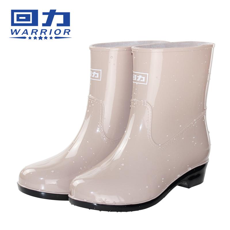 回力加绒雨鞋女成人雨靴女士防水鞋短筒防滑保暖胶鞋时尚韩国可爱_天猫超市优惠券