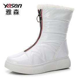 冬季新款加绒加厚防水防滑保暖棉鞋雪地靴