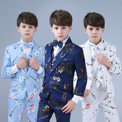 Boy Jazz Dance Costumes suit Children's flower girl dress Korean baby suit Wedding model catwalk suit
