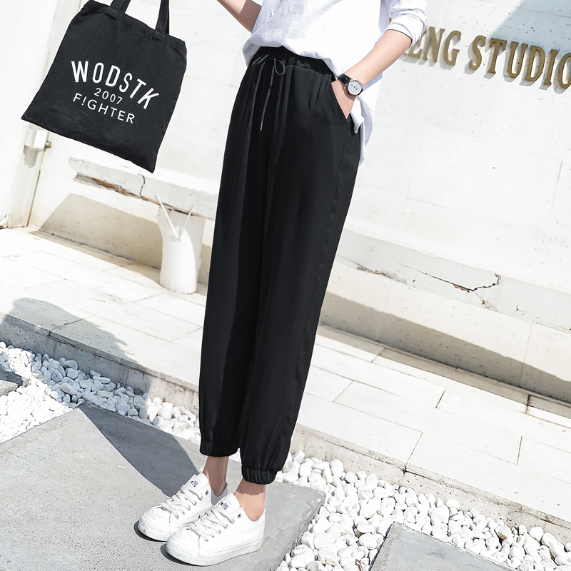 2f6fb51c8fb 2019 new spring and summer women s pants Korean loose black large size nine  points casual pants · Zoom · lightbox moreview · lightbox moreview ...