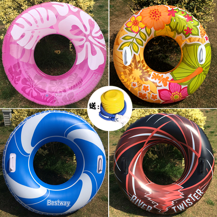Children adult swimming ring inflatable armpit ring adult life buoy fat  floating ring bubble floating row increase thickening