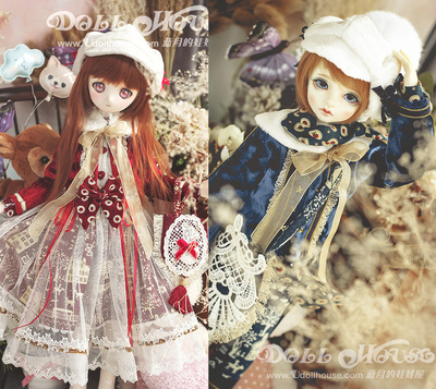 taobao agent [Blue Moon's Doll House] [190108] 4 points BJD/MSD/MDD/Giant babies can wear baby clothes Friday town