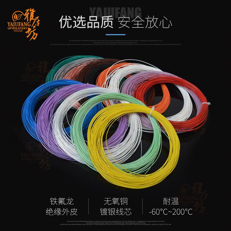 USD 4.50] Teflon silver plated wire 0 2 square wire diameter 1 1mm ...