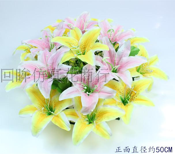 Usd 807 silk flower qingming flower lily wreath tomb flower fake silk flower qingming flower lily wreath tomb flower fake flower manufacturers wholesale festival flower decoration flower mightylinksfo