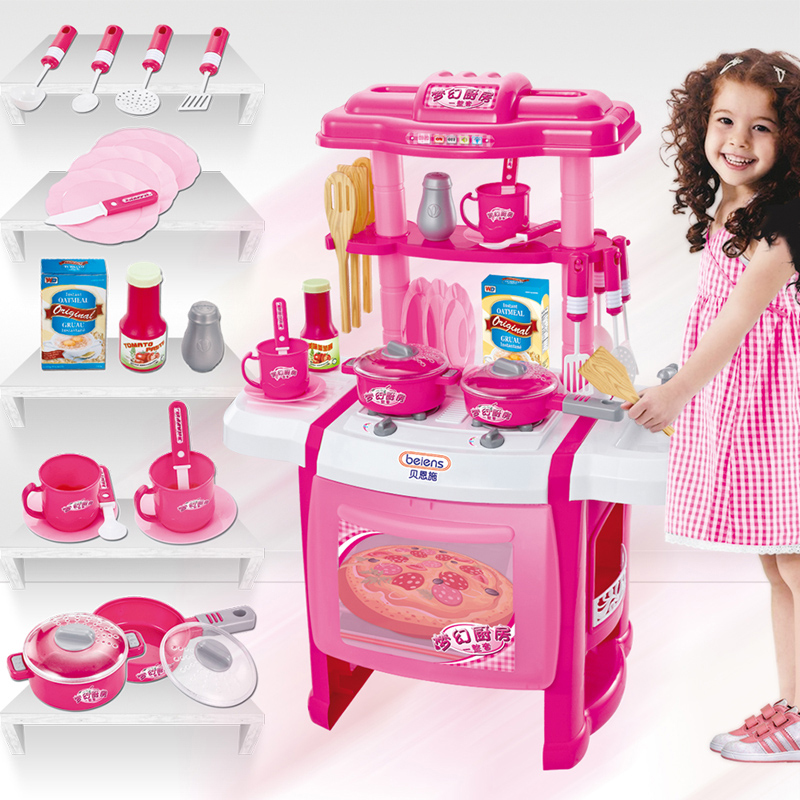 Kitchen Toys For Girls : Bernsch children s home kitchen toy girl cooking