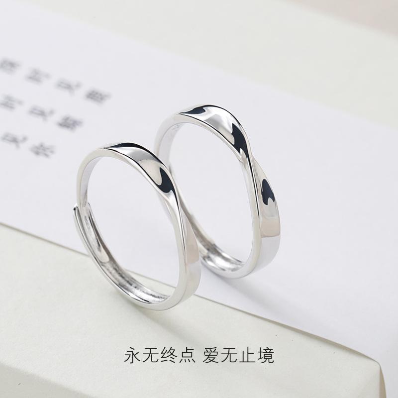 925 серебро 925 пробы любители кольцо пара япония и южная корея просто мода популярный мужской и женщины кольцо вегетарианец круг оригинал смысл дизайн первый 581483594337