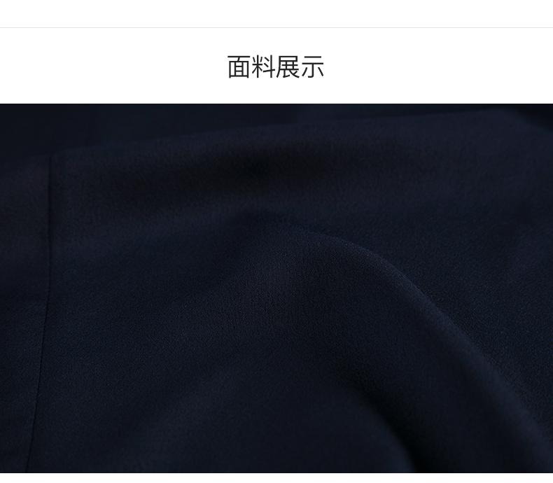 拉夏贝尔2019女装夏装法式连衣裙过膝气质修身长裙子