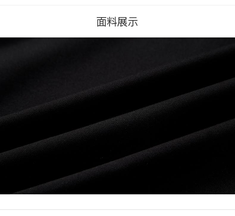 拉夏贝尔2019春季新款女装通勤职业打底裙子黑色连衣裙