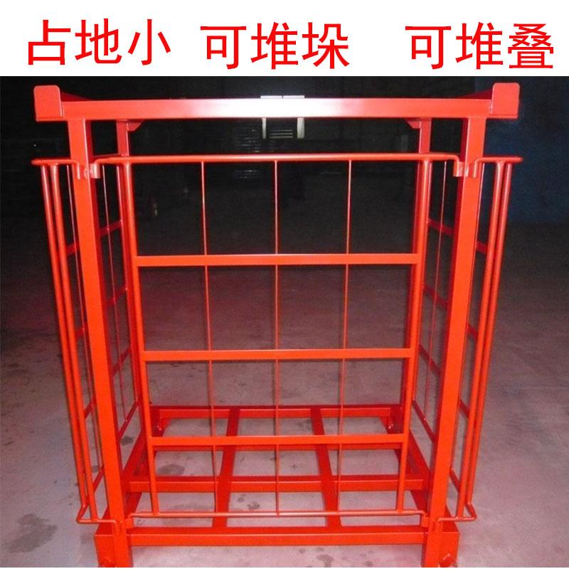 仓储笼巧固架布匹架可折叠堆垛定制堆垛铁架铁笼重型储存巧固架子