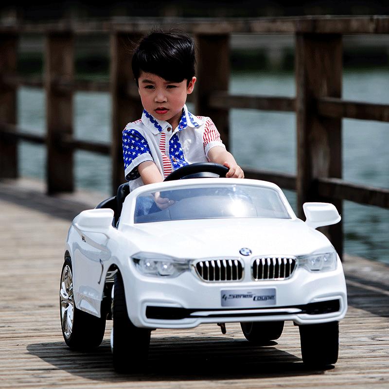 宝马儿童电动车四轮汽车带遥控双驱充电宝宝可坐人玩具车小孩童车