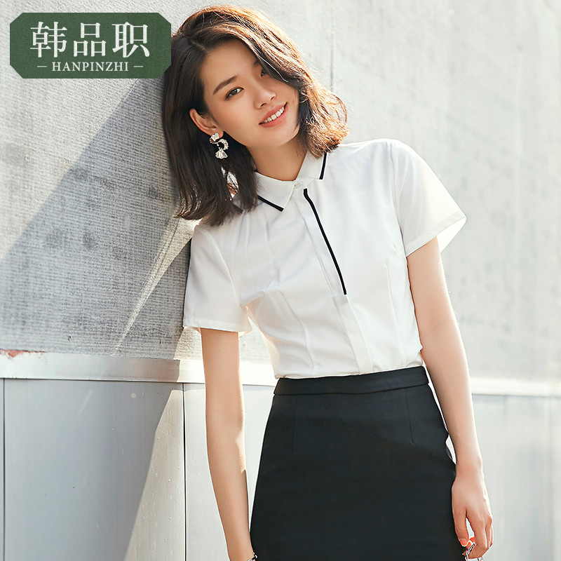 4046e10f3e Summer professional dress suit female 2019 short-sleeved stewardess  uniforms teacher Civil Service interview Clothing dress overalls