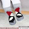 New spring and autumn cartoon baby shoes socks non-slip leather bottom children's floor socks terry warm baby socks 0-3