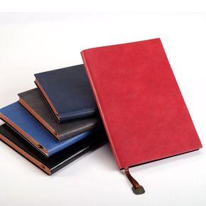 软皮面笔记本文具商务本子加厚日历记事本