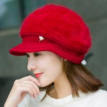 帽子女秋冬天加绒加厚护耳保暖帽毛线帽