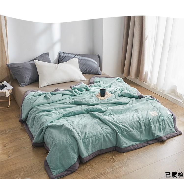 宿舍夏被特价被双人单人全棉空调夏凉被可机洗学生薄纯棉被子清仓