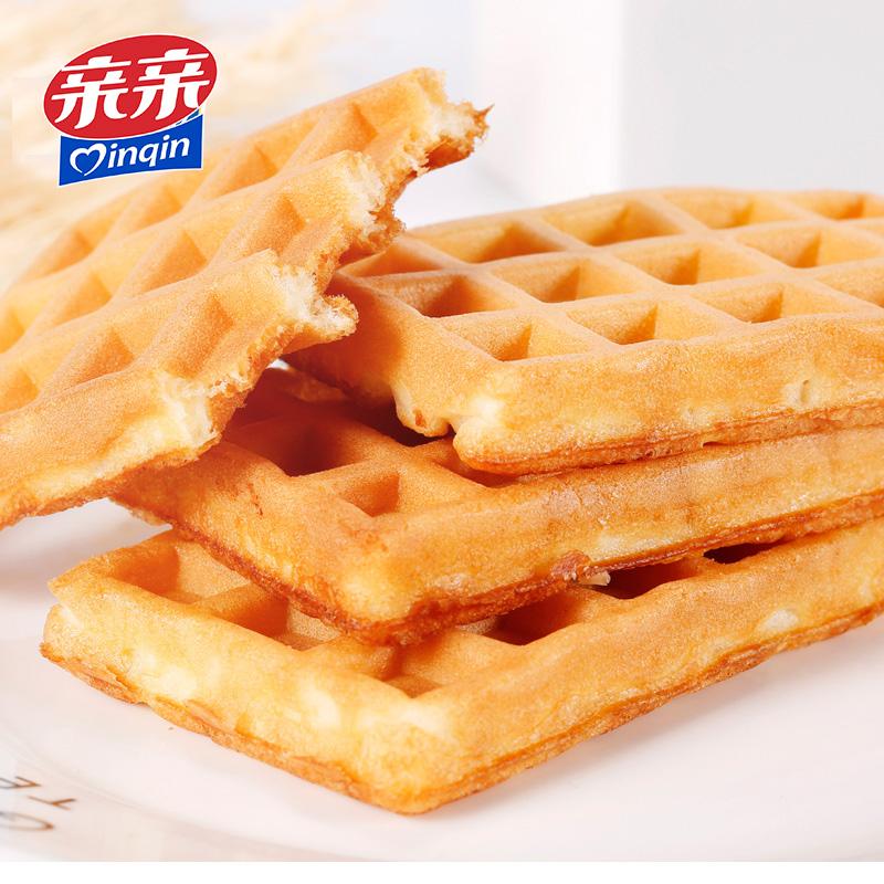 亲亲华夫饼干750g整箱营养早餐速食手撕面包蛋糕网红零食充饥夜宵