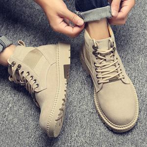 马丁靴男冬季加绒保暖英伦高帮鞋子男鞋中帮潮鞋工装靴子雪地棉鞋