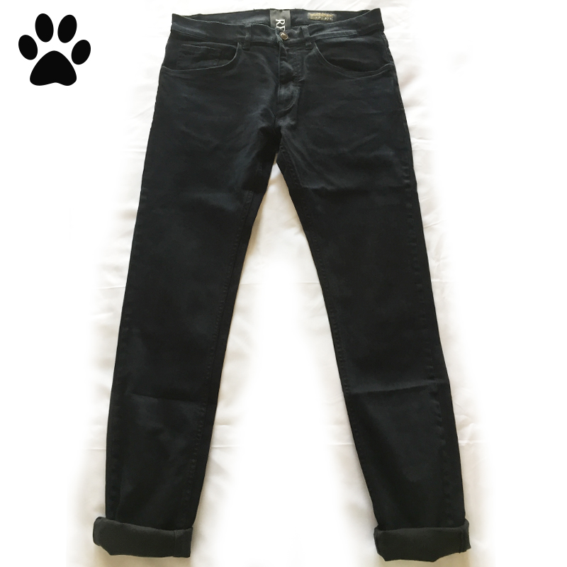 Italian denim brand RP2020 early spring new retro casual black trim wash jeans