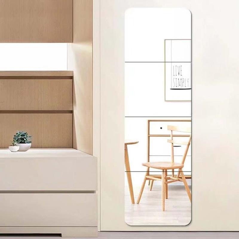Tủ quần áo gương gương dán một mảnh phòng tắm ký túc xá tường bình thường gương tường hành lang dài - Gương