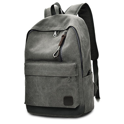 Twin shoulder canvas backpack, high school college students, bag, men and women, big capacity, fashion trend, Korean version