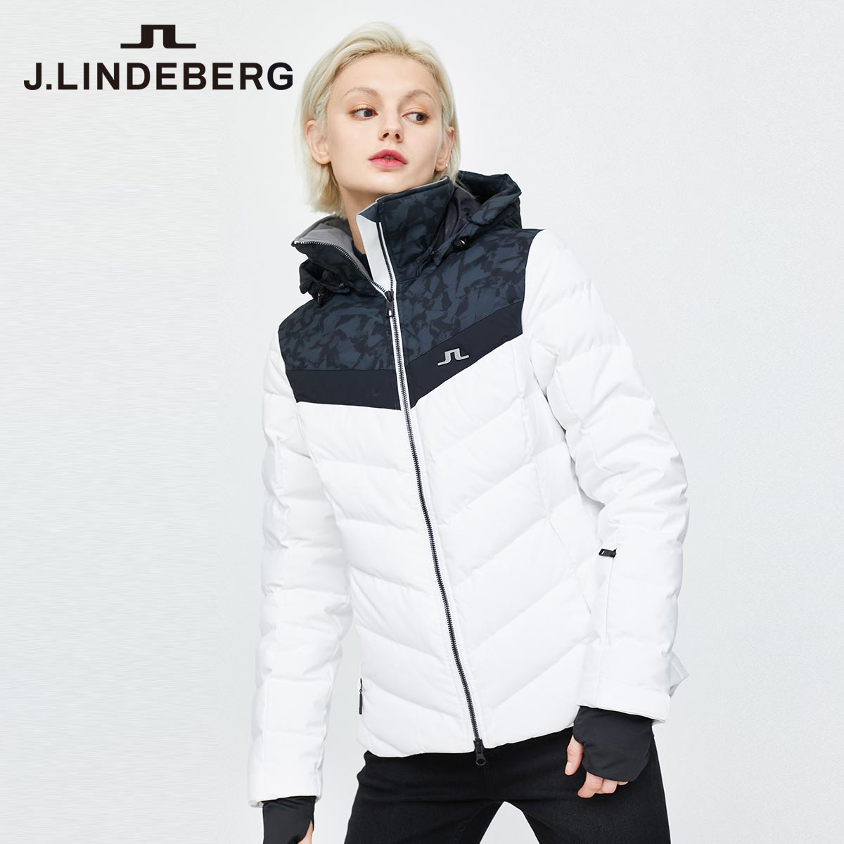 Mall the same J.LINDEBERG Jinlindberg autumn/winter new fashion ski suit short down jacket girl