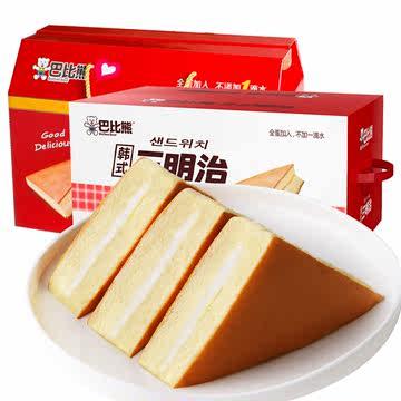 巴比熊西式奶香三明治1kg整箱 劵后25.9元包邮