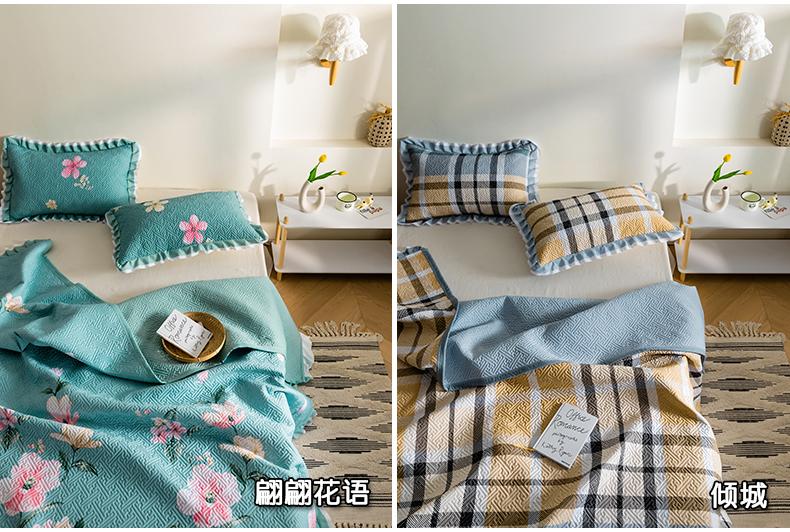 夏季纯棉床盖单件全棉夹棉床单两面用榻榻米大炕套罩垫三件套定做详细照片