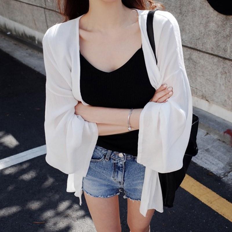 外搭短款小披肩女夏季雪纺开衫配吊带长裙的网纱外套透明薄纱百搭