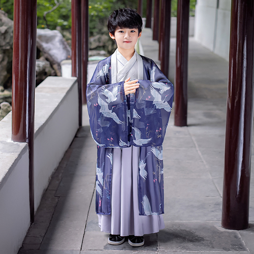 Boy's chinese Hanfu young master's clothing Tang suit children's traditional Chinese swordsman prince cosplay clothing for boys