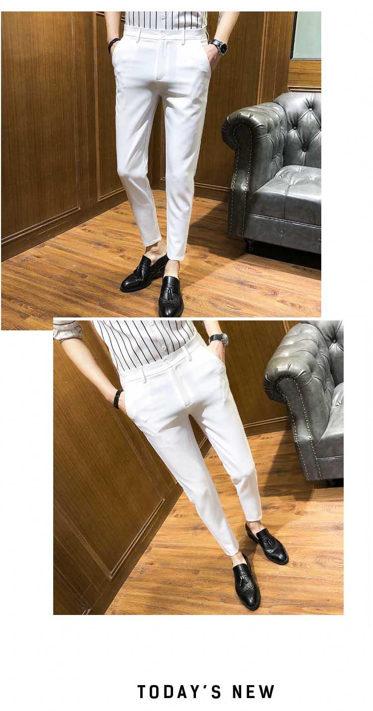 Mùa hè phần mỏng quần âu nam mỏng chân quần nhà tạo mẫu tóc Hàn Quốc phiên bản của quần của nam giới thanh niên Anh chín điểm quần triều