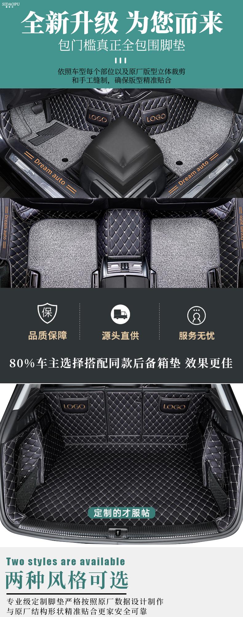 年款广汽汽车脚垫专用大全包围车内地垫车垫详细照片