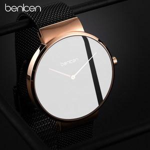 benken超薄手表男士钢带时尚潮流男表休闲腕表男式防水石英表
