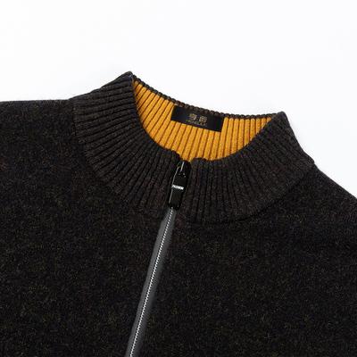 Áo len cổ lọ có chiều cao nửa cổ áo len nam cổ điển giản dị của Hàn Quốc xu hướng áo len nam mùa thu đông - Áo len