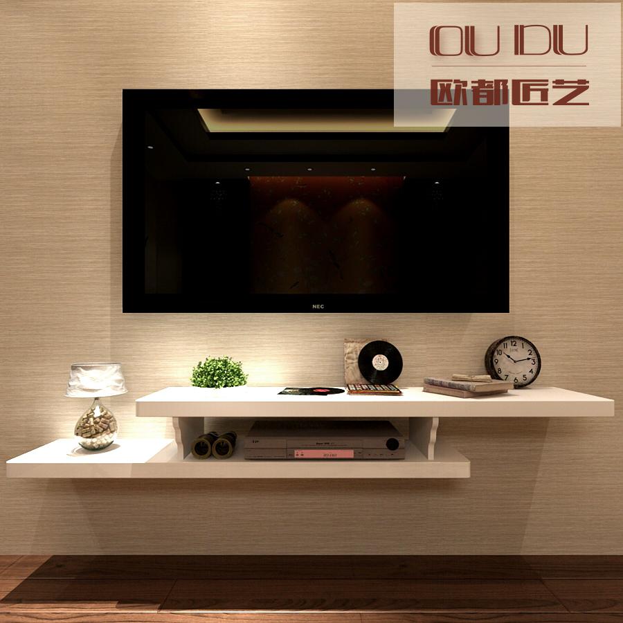 Creative Small Apartment Wall Mounted Tv Cabinet Bedroom Wall Shelf Living Room Tv Wall Rack European Set Top Box Rack