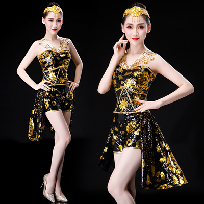 Jazz Costume Modern Dance Costume DS sexy nightclub opening dance show female adult suit