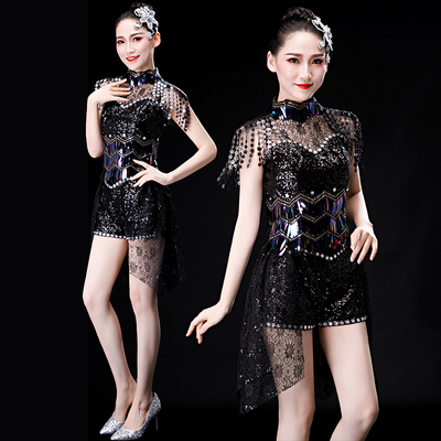 Jazz Dance Costumes Modern Jazz Dance Costume Fashion Sexy Night Club Suit Opening Dance for Adult Women