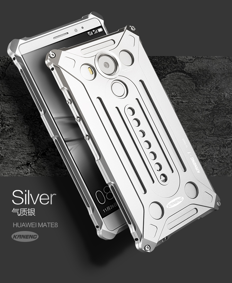 KANENG Powerful Aluminum Shell Shockproof Aerospace Metal Case Cover for Huawei Mate 8