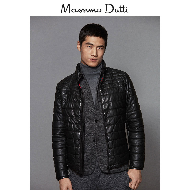 074054d588 Spring / Summer Sale Massimo Dutti men's quilted Nappa soft leather ...
