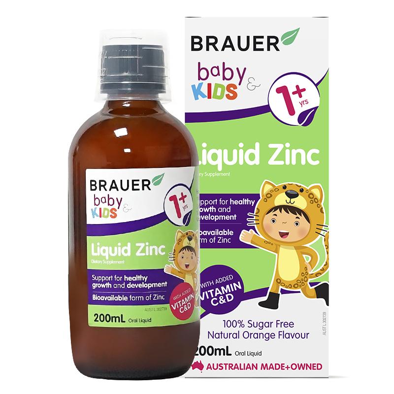 澳洲89年母婴老牌 Brauer 婴幼儿液体锌滴剂 200ml 天猫优惠券折后¥49包邮包税(¥129-80)