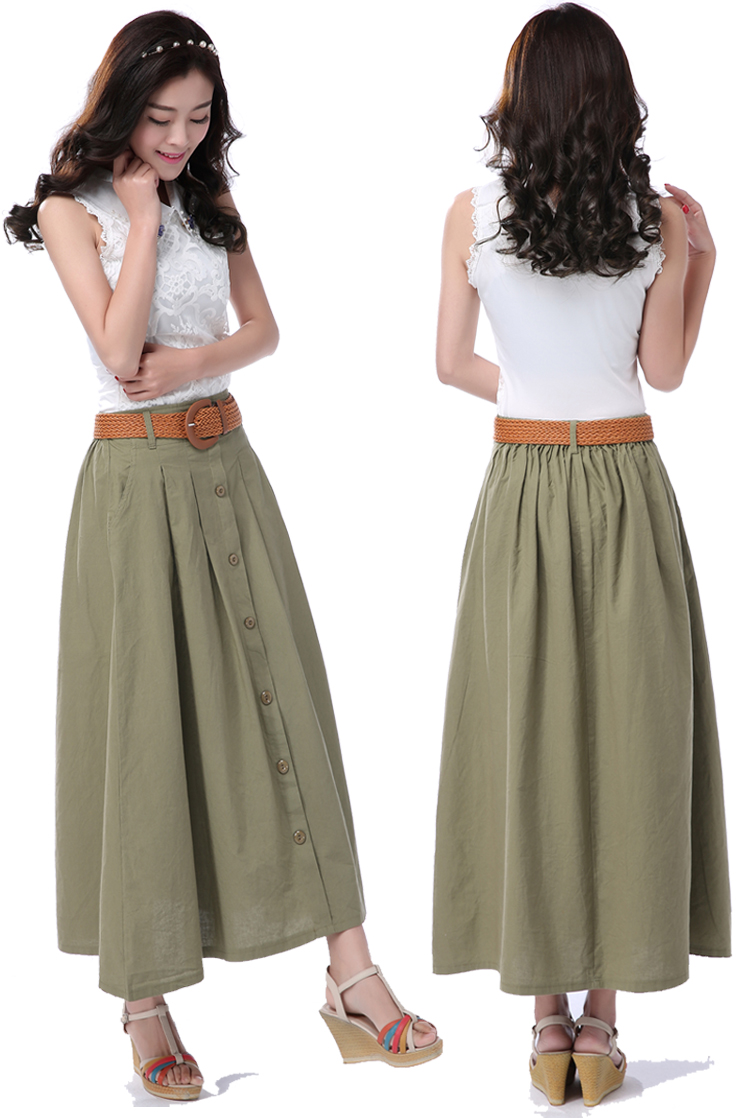 Skirts S-XL Long Cotton 28
