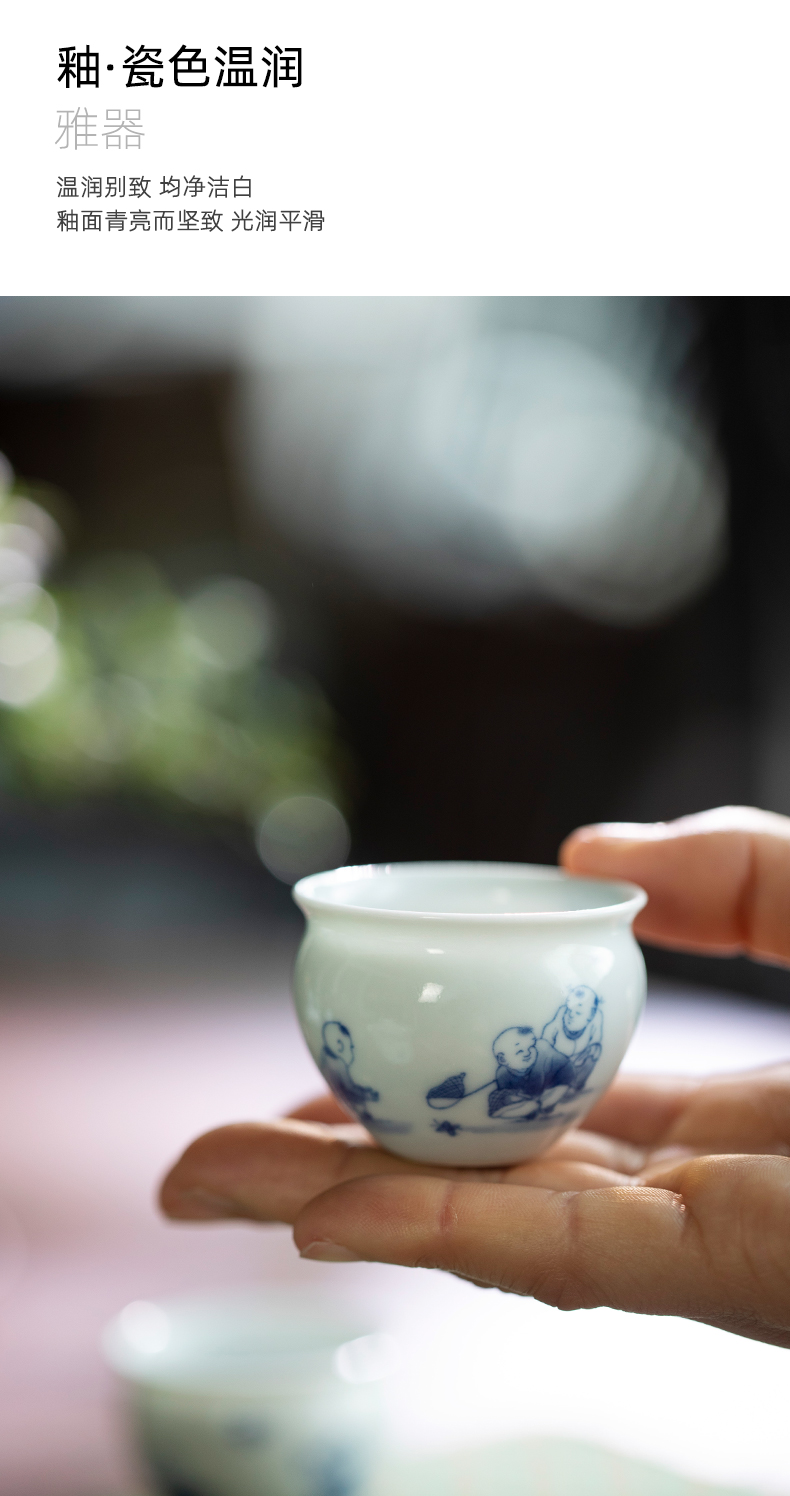 Mountain sound jingdezhen pure manual hand - made tong qu pot cup cup master cup personal special tea cups