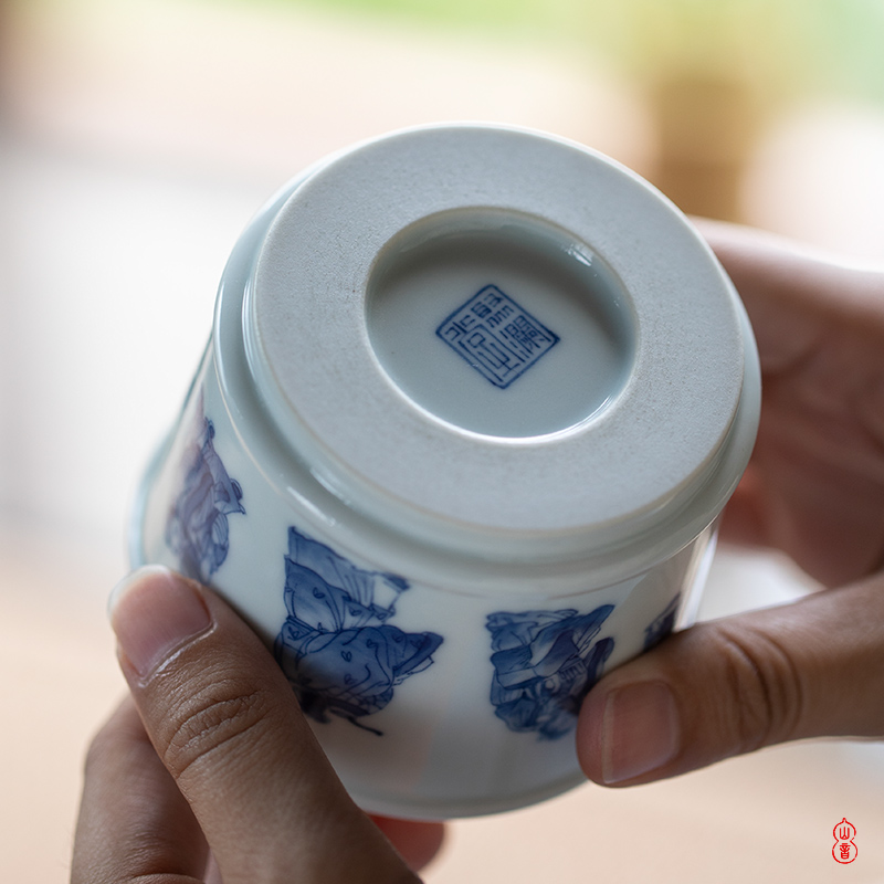 Poly real rings don knighted figure masters cup hand - made porcelain of jingdezhen ceramics kung fu tea cups sample tea cup