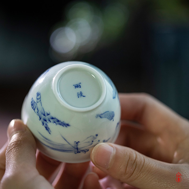 Fruits and vegetables after the rain glass of jingdezhen high temperature ceramic teacups hand - made porcelain masters cup personal special sample tea cup